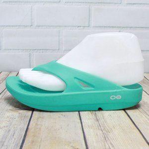 OOFOS Waterproof Teal Green Thong Flipflop Size 6